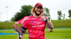 RG Snyman pictured at a Munster Rugby training seesion at the University of Limerick last June. Photo: Inpho