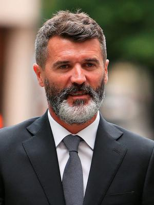 Ex-Manchester United footballer Roy Keane arriving at Manchester Magistrates' Court, where he was cleared over an alleged road-rage incident with taxi driver Fateh Kerar.