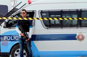 A Tunisian policeman stands guard inside the Bardo national museum in Tunis. Photo: Reuters