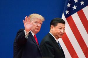 Meeting: President Donald Trump is claimed to have told China's Xi Jinping to carry on building concentration camps. Photo: AFP via Getty Images