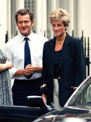 File Photo Showing Diana, The Princess Of Wales, In London With Her Butler, Paul Burrell, In 1994. (Photo by Antony Jones/UK Press via Getty Images)