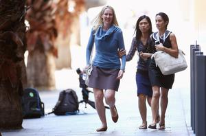 Terrified people flee the scene in central Sydney. Photo: Don Arnold/Getty Images