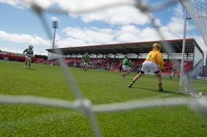 provision 250515 Action from Sciath na Scol Chorcai yest. in the first GAA games to be played in Irish Independent Park. Pic Michael Mac Sweeney/Provision