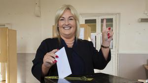 Controversy: Fine Gael's Verona Murphy's comments on asylum seekers were highlighted in the campaign. Picture: Mary Browne