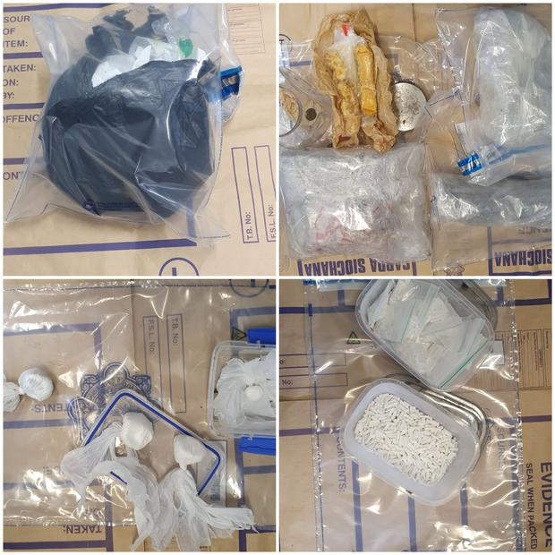 The drugs recovered by gardai at Loughlinstown Forest