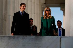 Jared Kushner, the son-in-law of President-elect Donald Trump, along with his wife Ivanka Trump arrive for the the Inauguration Welcome Concert at the Lincoln Memorial January 19, 2017 in Washington, DC.
