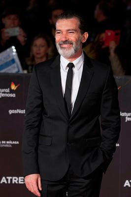 Spanish actor Antonio Banderas attends the 20th Malaga Film Festival closing ceremony at the Cervantes Teather on March 25, 2017 in Malaga, Spain.  (Photo by Carlos Alvarez/Getty Images)