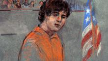 A court sketch of Dzhokhar Tsarnaev, who faces the death penalty if convicted of planting a bomb during the Boston Marathon. PhotoAP Photo/Margaret Small