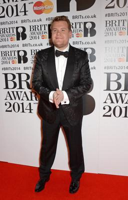 James Corden attends The BRIT Awards 2014
