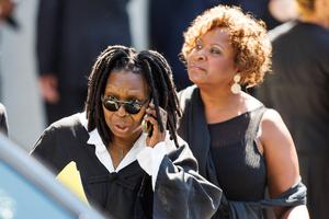 Comedian Whoopi Goldberg departs the funeral of comedian Joan Rivers at Temple Emanu-El in New York September 7, 2014. REUTERS/Lucas Jackson