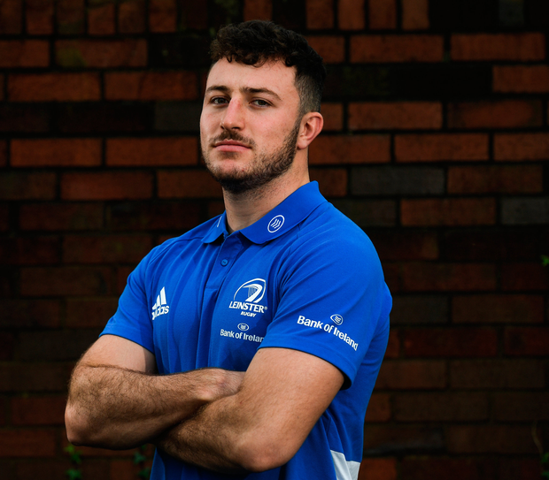 25 November 2019; Will Connors poses for a portrait at a Leinster Rugby press conference at Leinster Rugby Headquarters in UCD, Dublin. Photo by Ramsey Cardy/Sportsfile