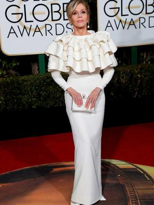 Actress Jane Fonda arrives at the 73rd Golden Globe Awards in Beverly Hills, California January 10, 2016.  REUTERS/Mario Anzuoni