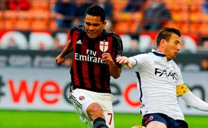 Carlos Bacca's late goal for AC Milan helped win the bet