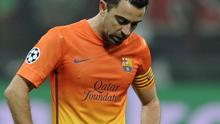 MILAN, ITALY - FEBRUARY 20:  Xavi Fernandez of FC Barcelona dejected during the UEFA Champions League Round of 16 first leg match between AC Milan and Barcelona at San Siro Stadium on February 20, 2013 in Milan, Italy.  (Photo by Claudio Villa/Getty Images)