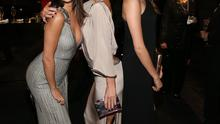 (L-R) Singer/actress Selena Gomez, wearing Gucci,, actress Kate Beckinsale, wearing Gucci,, and model Cara Delevingne attend the 2014 LACMA Art + Film Gala honoring Barbara Kruger and Quentin Tarantino presented by Gucci at LACMA