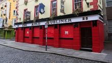 The Auld Dubliner pub in Temple Bar during the Covid-19 (Coronavirus) pandemic in Dublins City Centre Photo:Gareth Chaney/Collins