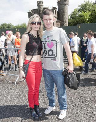 Megan McCarthy and Chris Smith from Cork arrive for Eminem concert at Slane Castle. Pic Patrick O'Leary
