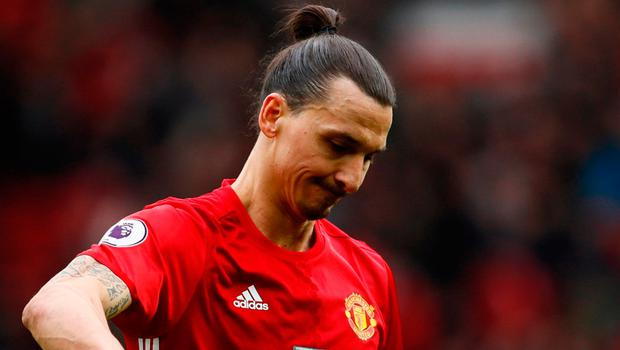 Ibrahimovic has been suspended after accepting an FA charge of violent conduct for elbowing Bournemouth defender Tyrone Mings.  Photo: Reuters / Jason Cairnduff