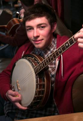 Connaire Bradley from Co. Derry during a boy band audition by Louis Walsh at The Button Factory