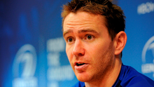 Eoin Reddan addresses the media at the Leinster press conference yesterday. Picture credit: Seb Daly / SPORTSFILE