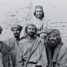 Michael Palin, John Cleese, Graham Chapman, Eric Idle, Terry Gilliam and Terry Jones on the set of Life of Brian (Python (Monty) Pictures Ltd)