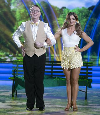 Linking up: Fr Ray Kelly on 'Dancing with the Stars' with pro dancer Kylee Vincent