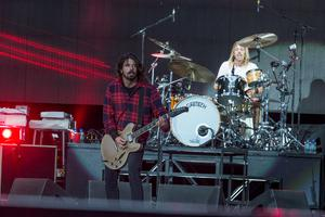 The Foo Fighters pictured at Slane Castle in Co Meath. Picture: Arthur Carron