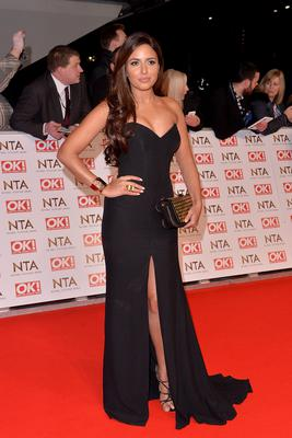 Nadia Forde attends the National Television Awards at 02 Arena