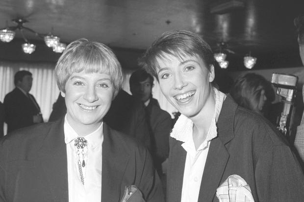 File photo dated 02/02/88 of Victoria Wood (left) with Emma Thompson at the Variety Club annual awards ceremony where Wood was named BBC TV Personality of 1987 PA/PA Wire