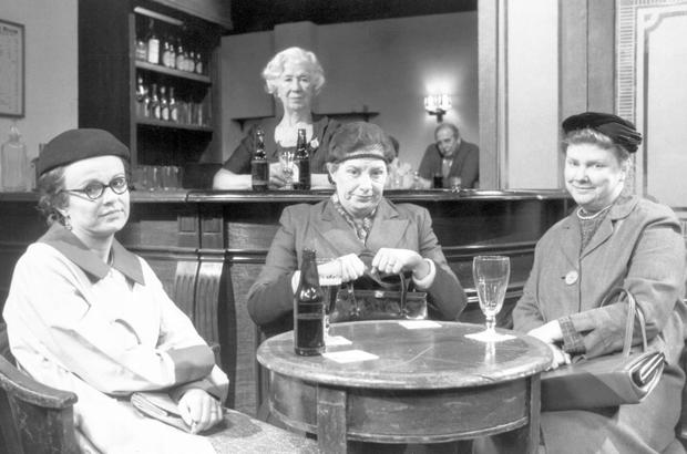 File photo dated 02/12/87 of Victoria Wood (centre) playing the role of Ena Sharples in a Coronation Street sketch for a special edition of Victoria Wood - As Seen on TV, alongside Julie Walters (left) and Lill Roughley.PA/PA Wire