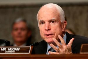 Senator John McCain gave the dossier on Trump to the FBI.  Photo: Reuters/Jonathan Ernst