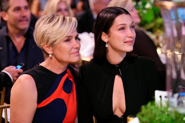 Yolanda Foster (L) and Bella Hadid attend the Global Lyme Alliance