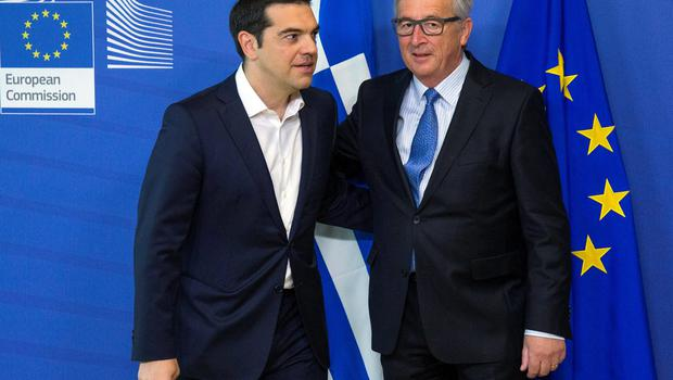 Uneasy relationship: Greek Prime Minister Alexis Tsipras and European Commission President Jean-Claude Juncker
