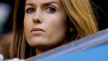 Kim Sears, fiancee of Andy Murray of Britain  watches his semifinal against Tomas Berdych of the Czech Republic at the Australian Open