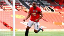 RARE OCCURRENCE: Anthony Martial scored a hat-trick at Old Trafford against the Blades. Photo: Michael Steele/NMC Pool/PA Wire