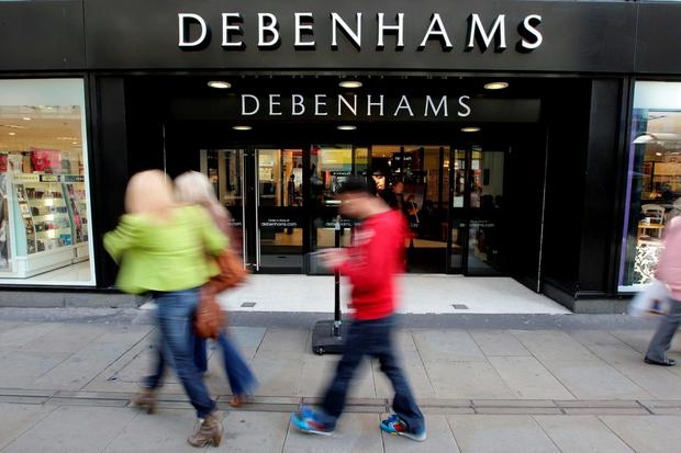 Last May Debenhams Retail (Ireland) Ltd sought examinership because of consistent losses sustained since the recession in 2007, high rents, and after the withdrawal of support of its UK parent company, Debenhams Retail plc. Photo: Dave Thompson/PA Wire
