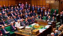 A narrow defeat in the 650-seat House of Commons could embolden Mrs May to press MPs to reconsider the issue in a second vote. Photo: AFP/Getty Images