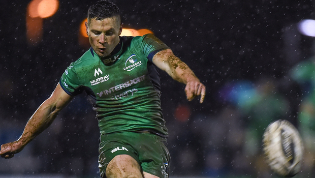 Connacht's John Cooney kicks a conversion  at the Sportsground in Galway. Photo: Matt Browne/Sportsfile