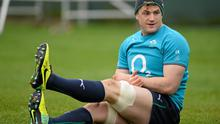 Ireland's Jamie Heaslip during squad training ahead of their RBS Six Nations Rugby Championship match against England on Saturday