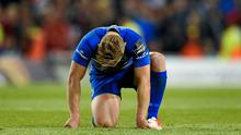 Ian Madigan shows his disappointment at a Leinster defeat - but he can expect more joy in an Ireland shirt