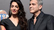 """Amal and George Clooney arrive at the world premiere of """"Tomorrowland"""" at AMC Downtown Disney on Saturday, May 9, 2015, in California.  (Photo by Chris Pizzello/Invision/AP)"""