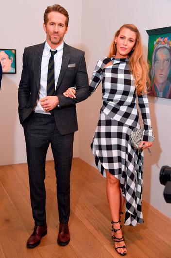 """Actors Ryan Reynolds and Blake Lively All artworks by Martial Raysse © 2018 Martial Raysse, Artists Rights Society (ARS), New York / ADAGP, Paris attends the """"Final Portrait"""" New York Screening After Party at Levy Gorvy Gallery on March 22, 2018 in New York City.  (Photo by Michael Loccisano/Getty Images)"""