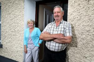 Home turf: Frances and Ger Kinahan in Clara, Co                   Offaly this week. Picture:                   Frank McGrath