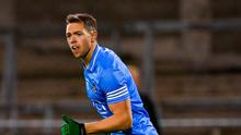Dean Rock of Dublin celebrates after scoring his side's first goal