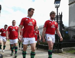 Sam Warburton, the Lions captain and Geoff Parling. Photo: Getty