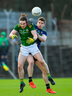 Cillian OSullivan of Meath in action against Lee Keegan of Mayo. Photo by Seb Daly/Sportsfile