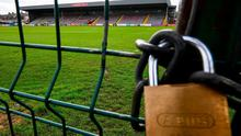 Bohemians' Dalymount Park home has, like every other League of Ireland grounds, been closed as clubs await their fate. Photo: Stephen McCarthy/Sportsfile