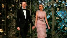 Senior White House Advisers Jared Kushner and Ivanka Trump  arrive for the State Dinner in honor of French President Emmanuel Macon at the White House in Washington, U.S. April 24, 2018. REUTERS/Joshua Roberts