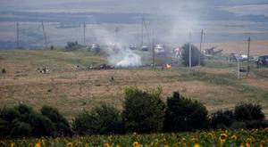 Wreckage from Malaysia MH17 near the settlement of Grabovo in the Donetsk region of Ukraine