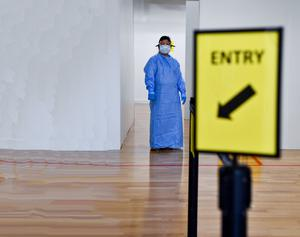 A demonstration to the media of the testing facilities in Croke Park. Photo: Ray McManus/Sportsfile
